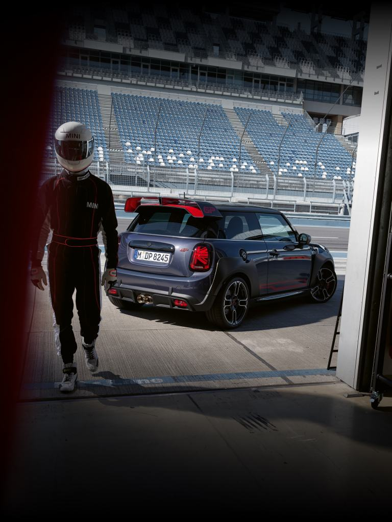 MINI John Cooper Works GP - side and rear view - track